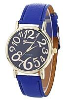 Недорогие -Xu™ Жен. Нарядные часы / Наручные часы Китайский Творчество / Повседневные часы / Крупный циферблат PU Группа На каждый день / Мода Черный / Белый / Синий / Один год