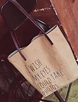 cheap -Women's Bags Canvas / Paper Shoulder Bag Pattern / Print Yellow