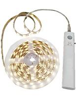 abordables -2m Bandes Lumineuses LED Flexibles 120 LED 2835 SMD Blanc Chaud / Blanc Découpable / Décorative / Auto-Adhésives Batteries alimentées 1pc