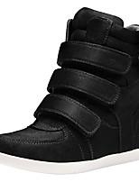 economico -Per donna Scarpe Nappa Primavera Comoda / Stivali Sneakers Zeppa Marrone / Blu / Vino