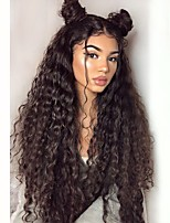 cheap -Synthetic Lace Front Wig Curly Layered Haircut Synthetic Hair With Baby Hair / Heat Resistant / Natural Hairline Black Wig Women's Very Long Lace Front / African American Wig / Yes