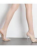 economico -Per donna Scarpe PU (Poliuretano) Estate Comoda Tacchi A stiletto Tessuto almond