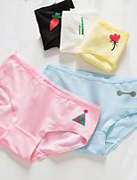 cheap -Women's Shorties & Boyshorts Panties Solid Colored Mid Waist