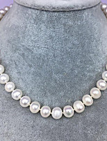 cheap -Women's Freshwater Pearl Choker Necklace  -  Sterling Silver, Freshwater Pearl Simple, Natural, Elegant White 45 cm Necklace 1pc For Party, Gift