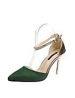 cheap -Women's Shoes PU(Polyurethane) Summer Basic Pump Heels Stiletto Heel Green / Pink / Almond / Party & Evening