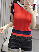 cheap -women's t-shirt - solid colored round neck