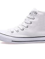 abordables -Mujer Zapatos Vaquero Otoño Confort Zapatillas de deporte Tacón Plano Negro / Azul Oscuro / Negro / blanco