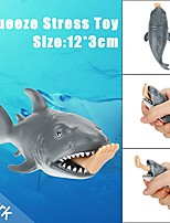 cheap -LT.Squishies Squeeze Toy / Sensory Toy / Stress Reliever Shark Focus Toy / Decompression Toys Poly urethane 3 pcs Child's All Gift