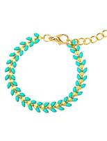 baratos -Mulheres Tanzanite sintética Longas Bracelete - Resina Vintage, Étnico, Fashion Pulseiras Azul Para Diário / Escola