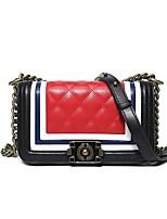 cheap -Women's Bags PU(Polyurethane) Shoulder Bag Buttons Blue / White / Red