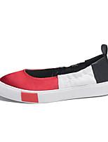 abordables -Mujer Zapatos Satén Primavera verano Confort Zapatillas de deporte Paseo Tacón Plano Dedo Puntiagudo Rojo / Verde