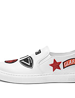 cheap -Men's Shoes Faux Leather / PU(Polyurethane) Spring / Fall Comfort Loafers & Slip-Ons White / Black