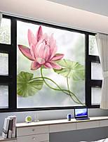 Недорогие -Оконная пленка и наклейки Украшение штейн / Современный Цветы ПВХ Стикер на окна / Матовая