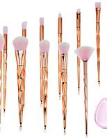 cheap -11pcs Makeup Brushes Professional Makeup Brush Set Nylon fiber Eco-friendly / Soft Plastic