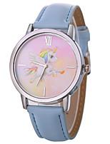 Недорогие -Xu™ Жен. Нарядные часы / Наручные часы Китайский Творчество / Повседневные часы / Крупный циферблат PU Группа Мультяшная тематика / Мода Черный / Белый / Синий / Один год