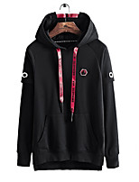 cheap -Men's Long Sleeve Loose Hoodie - Solid Colored Hooded