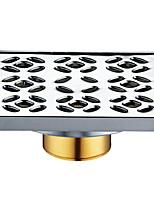 Недорогие -Слив Новый дизайн Modern Латунь / Нержавеющая сталь 1шт Установка на полу