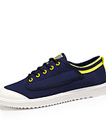 cheap -Men's Canvas Summer Comfort Sneakers White / Black / Dark Blue