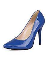 abordables -Mujer Zapatos PU Primavera verano Pump Básico Tacones Tacón Stiletto Dedo Puntiagudo Verde / Azul / Rosa