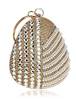 preiswerte -Damen Taschen Terylen / Strass Steine Abendtasche Kristall Verzierung / Perlen Verzierung Schwarz / Silber / Rote