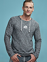cheap -Men's Active / Street chic Sweatshirt - Solid Colored, Print