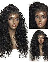 cheap -Synthetic Lace Front Wig Curly Layered Haircut Synthetic Hair With Baby Hair / Heat Resistant / Natural Hairline Black Wig Women's Long Lace Front / African American Wig / Yes