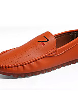 cheap -Men's Shoes Synthetic Microfiber PU Summer Moccasin Loafers & Slip-Ons White / Black / Orange