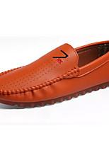 Недорогие -Муж. обувь Искусственное волокно Лето Мокасины Мокасины и Свитер Белый / Черный / Оранжевый