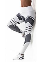 cheap -Women's Sporty Legging - Color Block High Waist