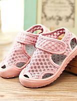 Недорогие -Девочки Обувь Сетка Лето Удобная обувь Сандалии На липучках для Дети Серый / Желтый / Розовый