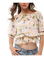 baratos -Mulheres Blusa - Para Noite Floral