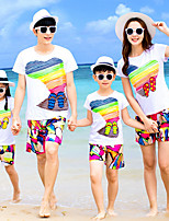 cheap -Family Look Rainbow Short Sleeve Clothing Set