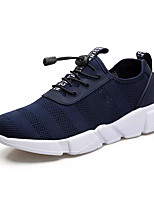 cheap -Men's PU(Polyurethane) / Elastic Fabric Spring / Summer Comfort Sneakers Black / Blue