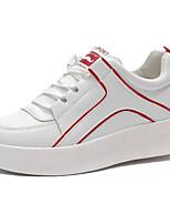 Недорогие -Жен. Обувь Искусственная кожа Лето Удобная обувь Кеды На плоской подошве Круглый носок Черный / Красный