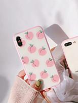 Недорогие -Кейс для Назначение Apple iPhone X / iPhone 7 Защита от пыли Кейс на заднюю панель Фрукты Твердый Силикон для iPhone X / iPhone 8 Pluss /