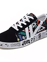 cheap -Men's Rubber Summer Comfort Sneakers Color Block Black / White / Black / Blue