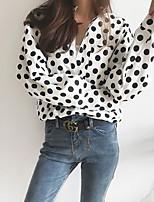 Недорогие -Жен. Рубашка Рубашечный воротник Горошек