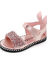 cheap -Girls' Shoes PU(Polyurethane) Summer Comfort Sandals Walking Shoes Sparkling Glitter / Magic Tape for Kids Black / Silver / Pink