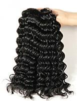 Недорогие -4 Связки Перуанские волосы Кудрявый Натуральные волосы Человека ткет Волосы / Накладки из натуральных волос 8-28 дюймовый Ткет человеческих волос Без шапочки-основы