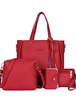 cheap -Women's Bags PU(Polyurethane) Bag Set 4 Pieces Purse Set Zipper / Tassel Green / Red / Khaki