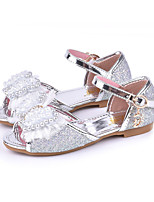 cheap -Girls' Shoes PU(Polyurethane) Spring / Fall Flower Girl Shoes Sandals Bowknot / Rivet / Buckle for Kids Gold / Silver / Pink / Peep Toe / Party & Evening