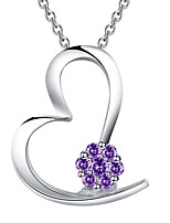 cheap -Women's Cubic Zirconia Long Pendant Necklace - Silver Drop Stylish, Classic, Elegant White, Purple, Red 50 cm Necklace 1pc For Wedding, Party