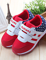 cheap -Girls' Shoes Mesh Spring / Fall Comfort Sneakers Magic Tape for Kids Red / Blue / Pink