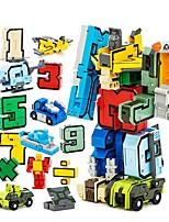 Недорогие -Конструкторы 15 pcs Робот / Преобразовательный номер Робот Творчество Подарок