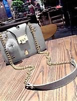 cheap -Women's Bags PU(Polyurethane) Shoulder Bag Zipper / Pom-pom Black / Gray
