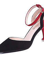cheap -Women's Shoes Suede / PU(Polyurethane) Summer Basic Pump Heels Stiletto Heel Pointed Toe Black / Red / Party & Evening