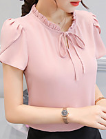 cheap -women's work blouse - solid colored stand