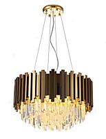 abordables -QIHengZhaoMing 8 lumières Cristal Lustre Lumière d'ambiance 110-120V / 220-240V, Blanc Crème, Ampoule incluse / 10-15㎡
