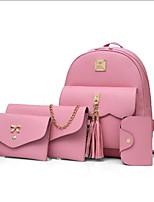 cheap -Women's Bags PU(Polyurethane) Bag Set 4 Pieces Purse Set Zipper / Tassel Blushing Pink / Beige / Gray