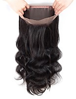 cheap -Fulgent  Sun Women's Wavy 360 Frontal Brazilian Hair Swiss Lace Human Hair Free Part Lace Closure Dailywear / Engagement / Daily